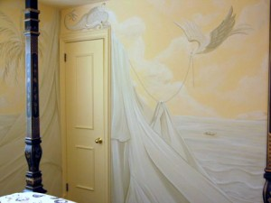 Old World - Grisaille (Grey) Mural
