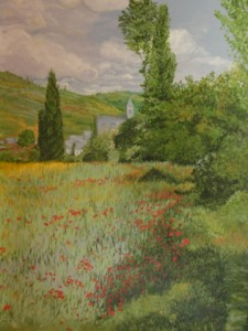 Old World - Monet inspired landscape mural