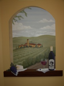 Old World - Mural of Italian Wine Country