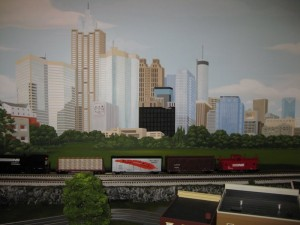 Train Backdrop - City of Atlanta