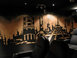 Mural - Futuristic  Theatre with City Scape