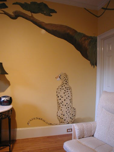 Kids Mural - Cheetah in Nursery