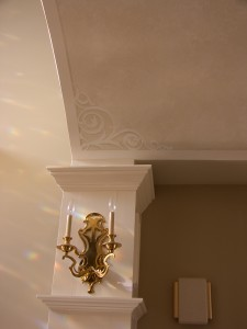 Accent Mural Scroll Work