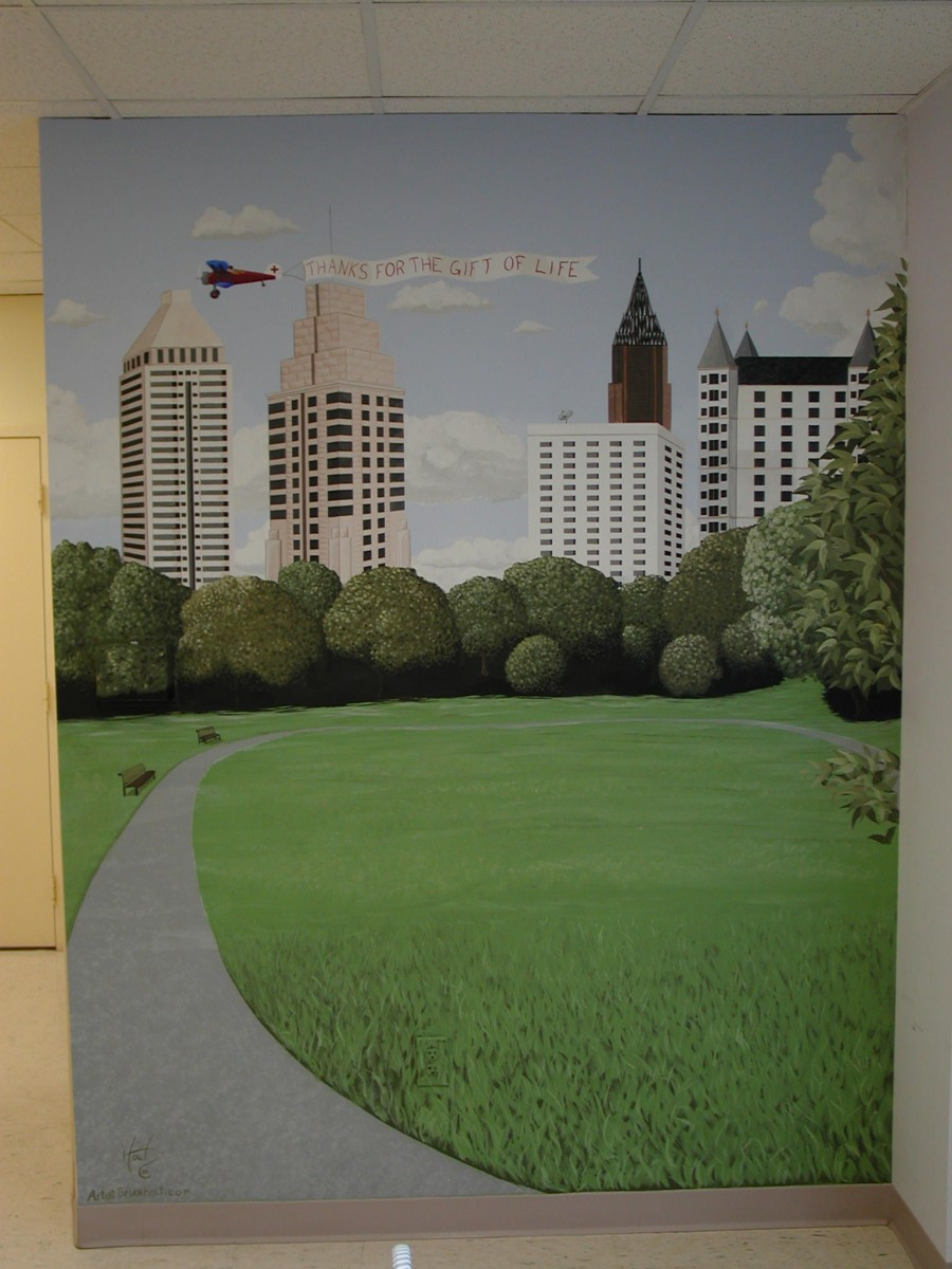 Commercial - Mural for Red Cross of Piedmont park Atlanta