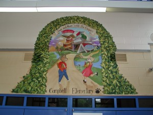 Commercial Kids Mural in Elementary school