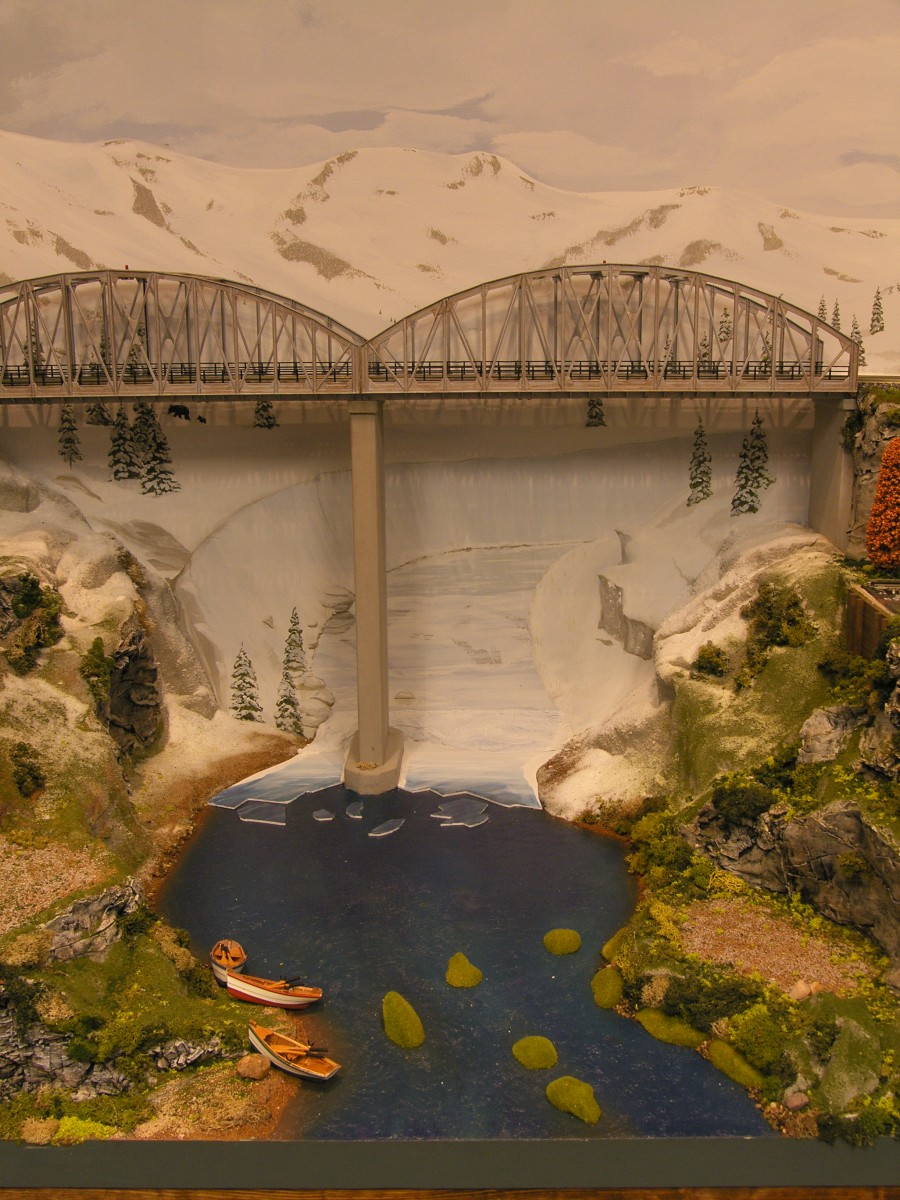 Train Background - Snow, Mountains and River
