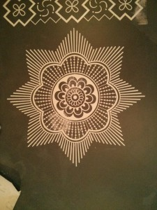 Commercial Mural of mandala designs for Indian Restaurant