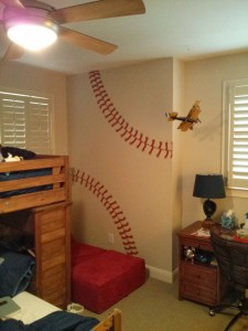 Kids Mural - Baseball Stitching