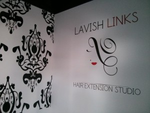 Commercial - Mural of Logo and Damask Design