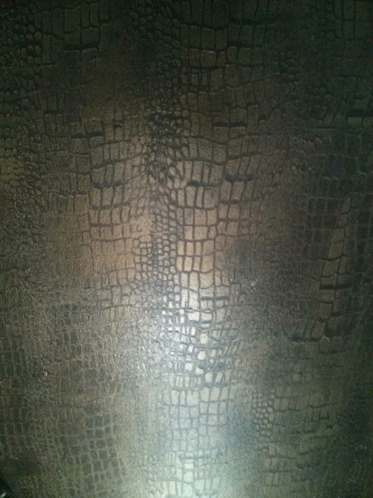 Metallic finish Faux Crocodile  Leather