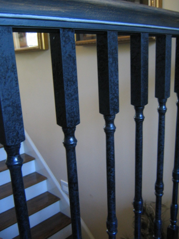 Metallic - Handrail with aged spindles