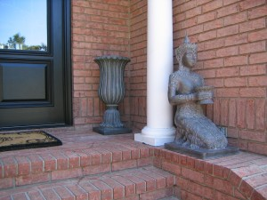 Faux Glaze Urn to match statue