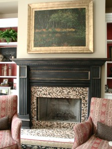 Aged and Gilded Fireplace