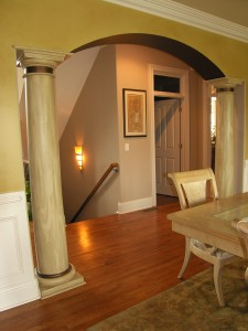 Faux Wood on Columns