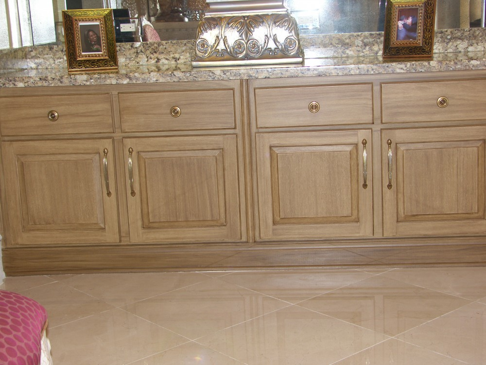 Faux Wood Cabinets