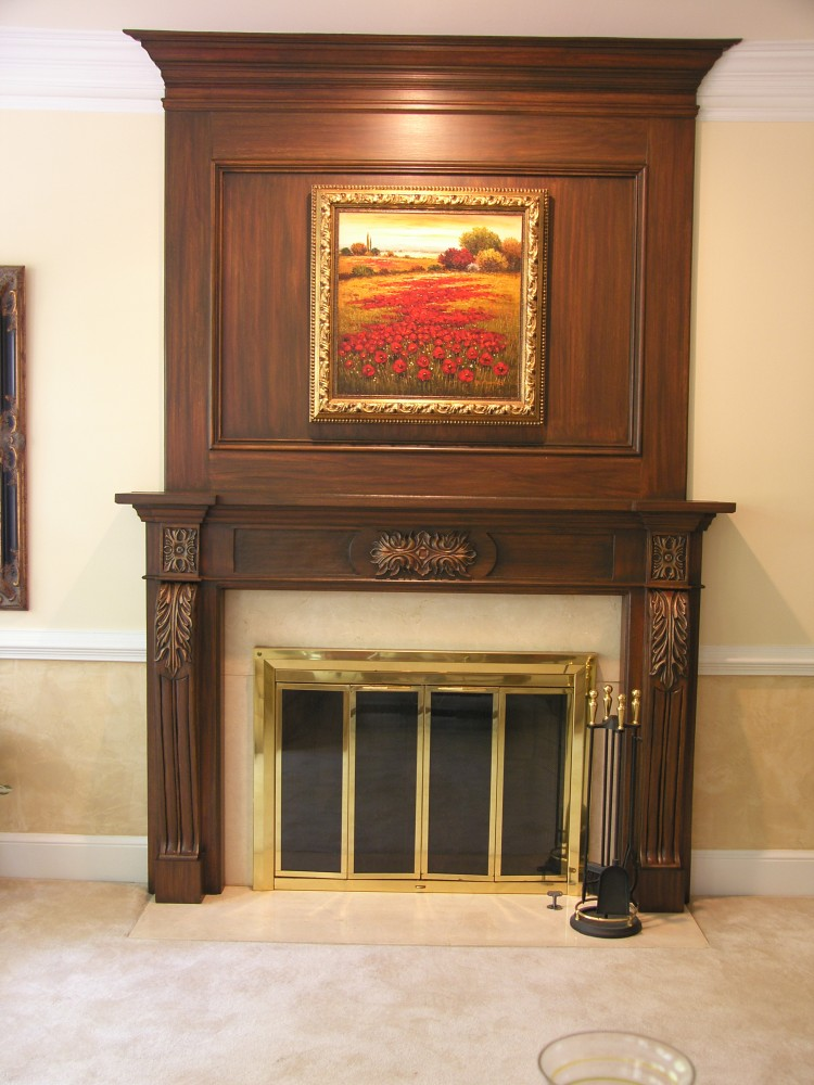 Faux Wood Fireplace