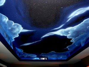 Theatre Night sky mural for Theatre
