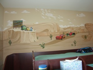 Kids Mural of Cars