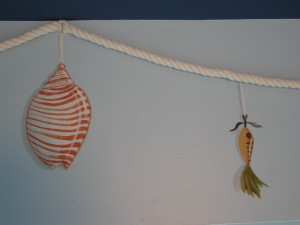 Kids Murals - Fishing Gear and Seashell