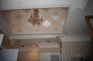 Pattern Metallic Diamonds on Vaulted Ceiling