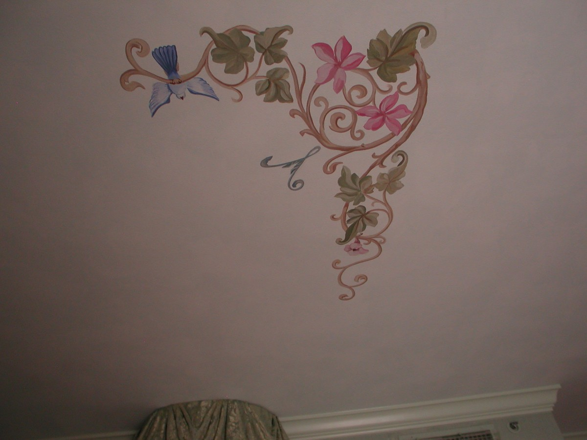 Old World - Ceiling Accent Mural over Bed