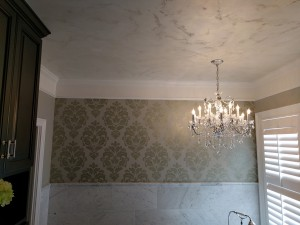 Damask/ Swahili Metallic Silver Ceiling