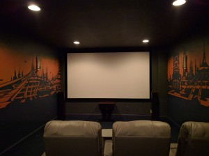 Home theatre Futuristic City