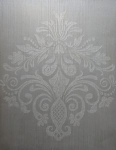Damask over faux linen
